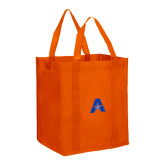 Non Woven Orange Grocery Tote-A with Star