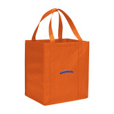 Non Woven Orange Grocery Tote-UTA Mavericks stacked