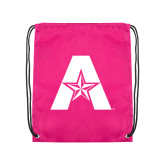 Pink Drawstring Backpack-A with Star