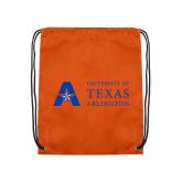 Nylon Orange Drawstring Backpack-Secondary Mark