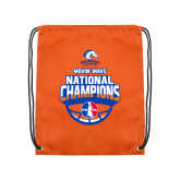 Orange Drawstring Backpack-Movin Mavs NWBA National Champions