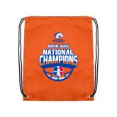 Nylon Orange Drawstring Backpack-Movin Mavs NWBA National Champions