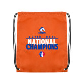 Orange Drawstring Backpack-Movin Mavs National Champions