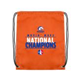 Nylon Orange Drawstring Backpack-Movin Mavs National Champions
