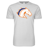 Next Level SoftStyle White T Shirt-Horse Head
