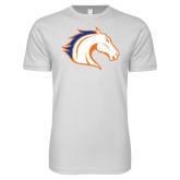 Next Level SoftStyle White T Shirt-Horse Head