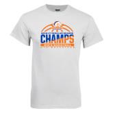 White T Shirt-2016-17 Regular Season Champs - Mens Basketball Half Ball