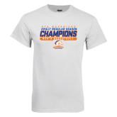 White T Shirt-2016-17 Regular Season Champions - Mens Basketball Stencil