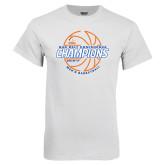 White T Shirt-2017 Mens Basketball Champions Basketball