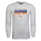 White Long Sleeve T Shirt-2016-17 Regular Season Champions - Mens Basketball Stencil