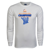 White Long Sleeve T Shirt-2016-17 Regular Season Champions - Mens Basketball Hanging Net