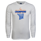 White Long Sleeve T Shirt-2017 Mens Basketball Champions Net