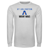 White Long Sleeve T Shirt-Wheelchair Basketball