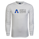 White Long Sleeve T Shirt-Secondary Mark