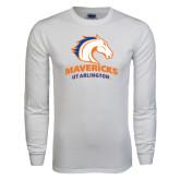 White Long Sleeve T Shirt-Mavericks