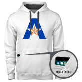 Contemporary Sofspun White Hoodie-A with Star