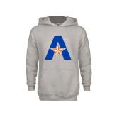 Youth Grey Fleece Hood-A with Star