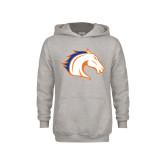 Youth Grey Fleece Hood-Horse Head