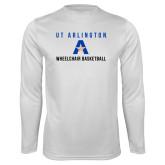 Performance White Longsleeve Shirt-Wheelchair Basketball