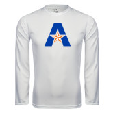 Syntrel Performance White Longsleeve Shirt-A with Star
