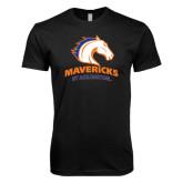 Next Level SoftStyle Black T Shirt-Mavericks