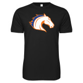 Next Level SoftStyle Black T Shirt-Horse Head