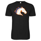 Next Level SoftStyle Black T Shirt-Horse Head