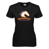 Ladies Black T Shirt-Mavericks