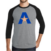 Grey/Black Tri Blend Baseball Raglan-A with Star