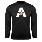 Syntrel Performance Black Longsleeve Shirt-A with Star