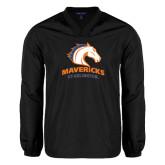 V Neck Black Raglan Windshirt-Mavericks