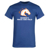 Royal Blue T Shirt-Womens Track and Field