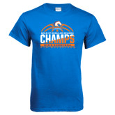Royal Blue T Shirt-2016-17 Regular Season Champs - Mens Basketball Half Ball