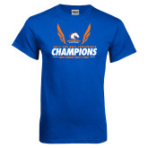 Royal Blue T Shirt-2017 Sun Belt Champions - Mens Indoor Track and Field Wings