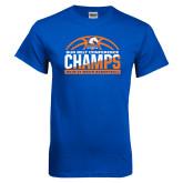 Royal T Shirt-2017 Mens Basketball Champions Stacked Baketball
