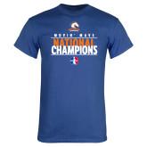 Royal Blue T Shirt-Movin Mavs National Champions