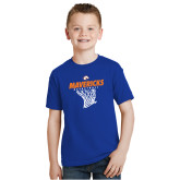 Youth Royal T Shirt-Basketball Hanging Net