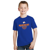 Youth Royal T Shirt-Basketball Net