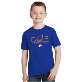 Youth Royal T Shirt-Golf Hole