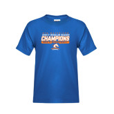 Youth Royal T Shirt-2016-17 Regular Season Champions - Mens Basketball Stencil