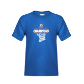 Youth Royal T Shirt-2016-17 Regular Season Champions - Mens Basketball Hanging Net