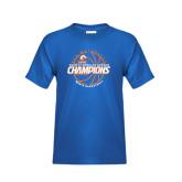 Youth Royal T Shirt-2016-17 Regular Season Champions - Mens Basketball Lined Ball