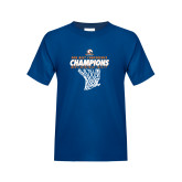 Youth Royal T Shirt-2017 Mens Basketball Champions Net