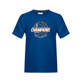 Youth Royal T Shirt-2017 Mens Basketball Champions Basketball