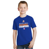 Youth Royal T Shirt-Movin Mavs National Champions