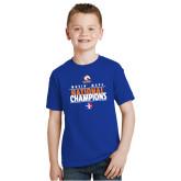 Youth Royal T Shirt-Movin Mavs National Champions