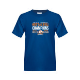 Youth Royal T Shirt-2017 Mens Track and Field Champions