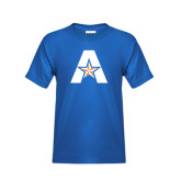 Youth Royal Blue T Shirt-A with Star