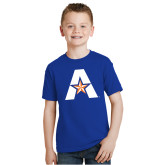Youth Royal T Shirt-A with Star