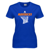 Ladies Royal T Shirt-Basketball Net